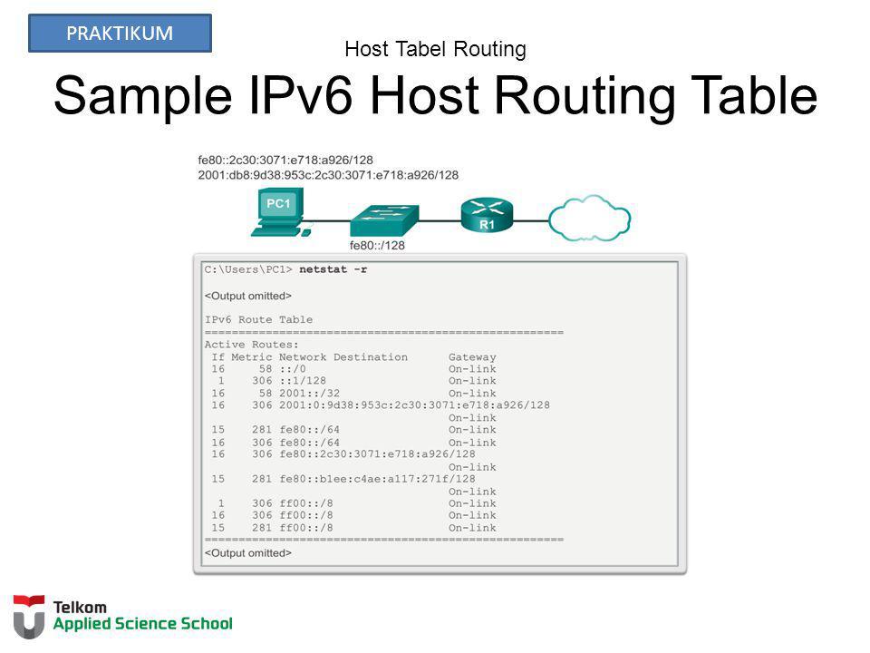 Host Tabel Routing Sample IPv6 Host Routing Table PRAKTIKUM