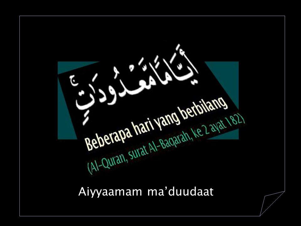 109.Kaafirun 6 + 1 110.Nashru 3 + 1 111.Lahhab 5 + 1 112.Ikhlash 4 + 1 113.Falaq 5 + 1 114.Naas 6 + 1 Jumlah 29 + 6 = 35 ayat = 6313 ayat ___________________________________________+ 6348 ayat Ayat Al-Quran - 7 = 6348 - 7 = 6341 1.Sholat 5 waktu:17 raka'at x 354= 6018 raka'at 2.Sholat tarawih & wiitir 11 raka'at x 29= 319 raka'at 4.Sholat 'ied Fithri & Adha (2 + 2) raka'at= 4 ------------------------------------------------------------- + Jumlah= 6341 raka'at