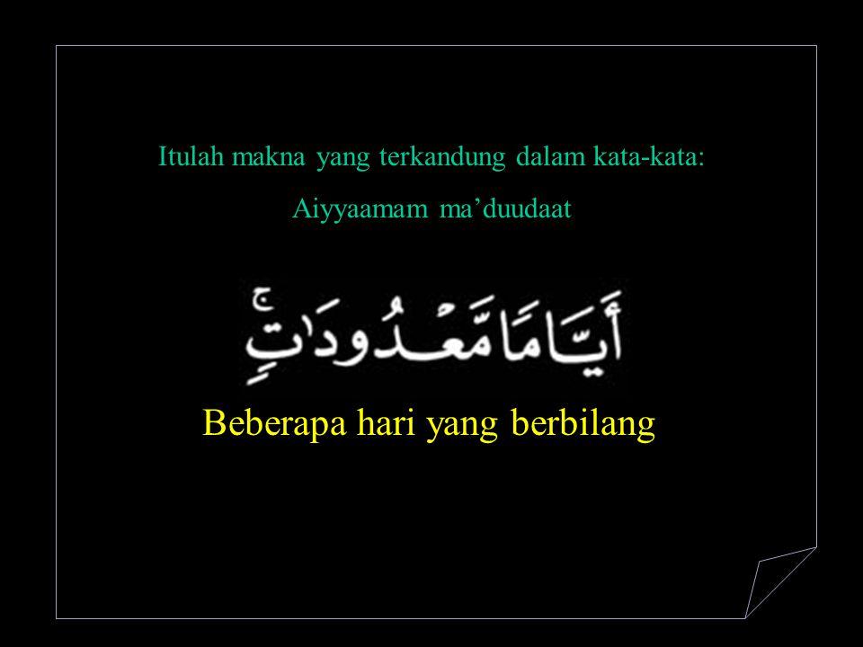 Catatan kecil Apa konsekwensi dari Ramadhan 29 hari dan tarawih witir 11 raka'at itu .