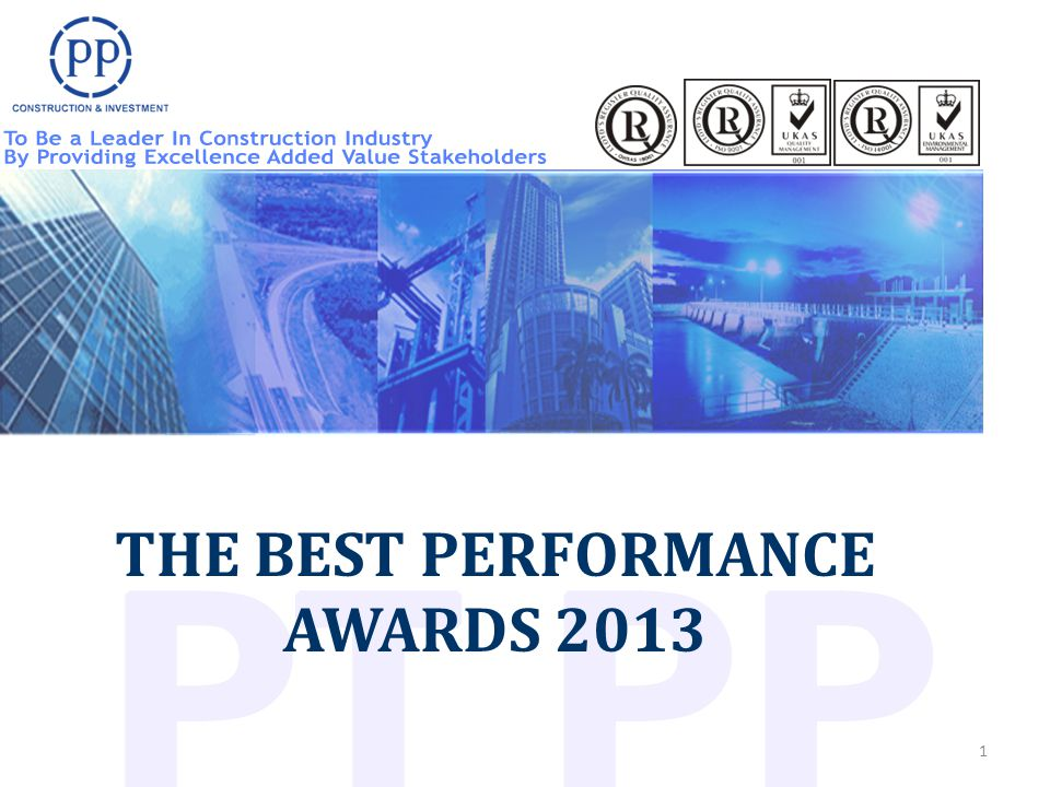1 THE BEST PERFORMANCE AWARDS 2013