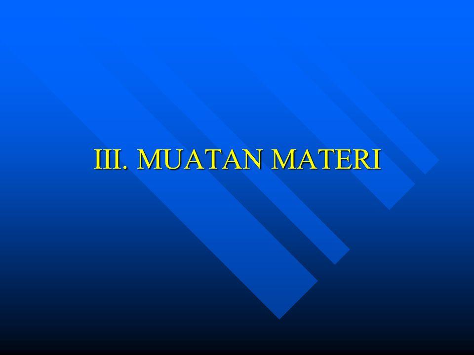 III. MUATAN MATERI
