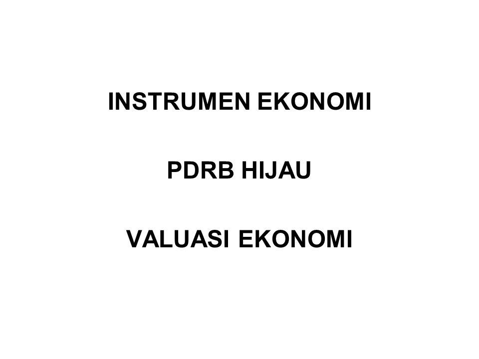 INSTRUMEN EKONOMI PDRB HIJAU VALUASI EKONOMI
