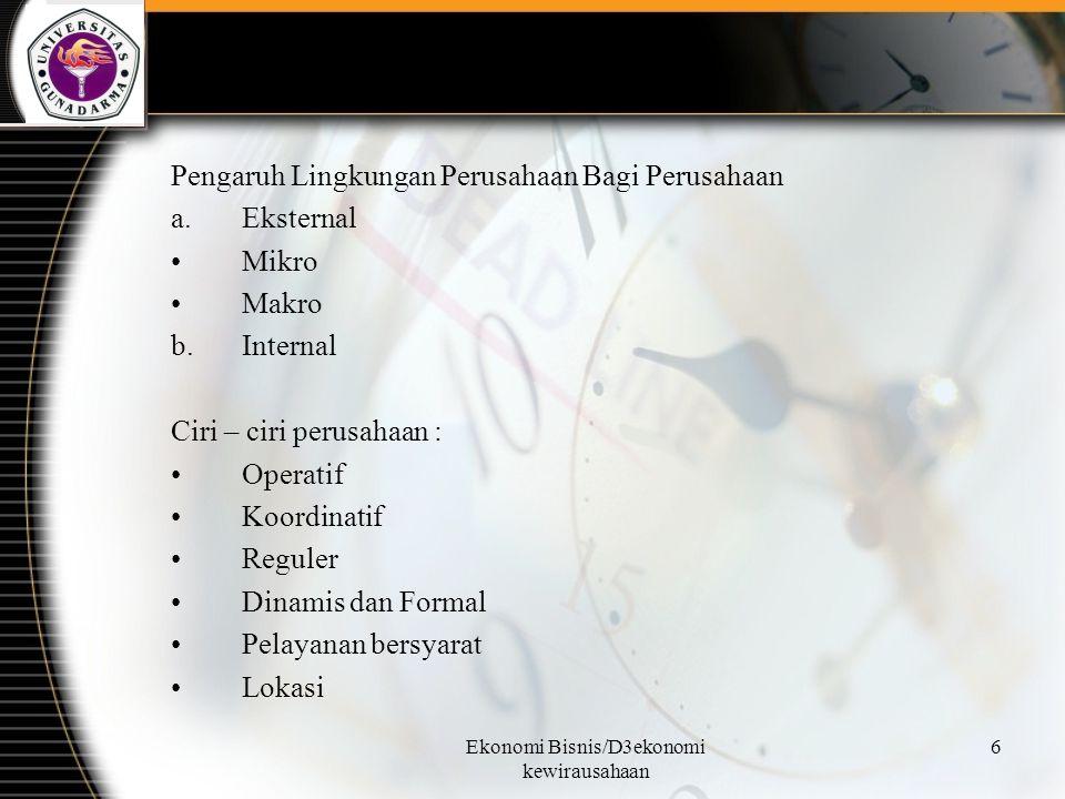 Ekonomi Bisnis/D3ekonomi kewirausahaan 27 IX.