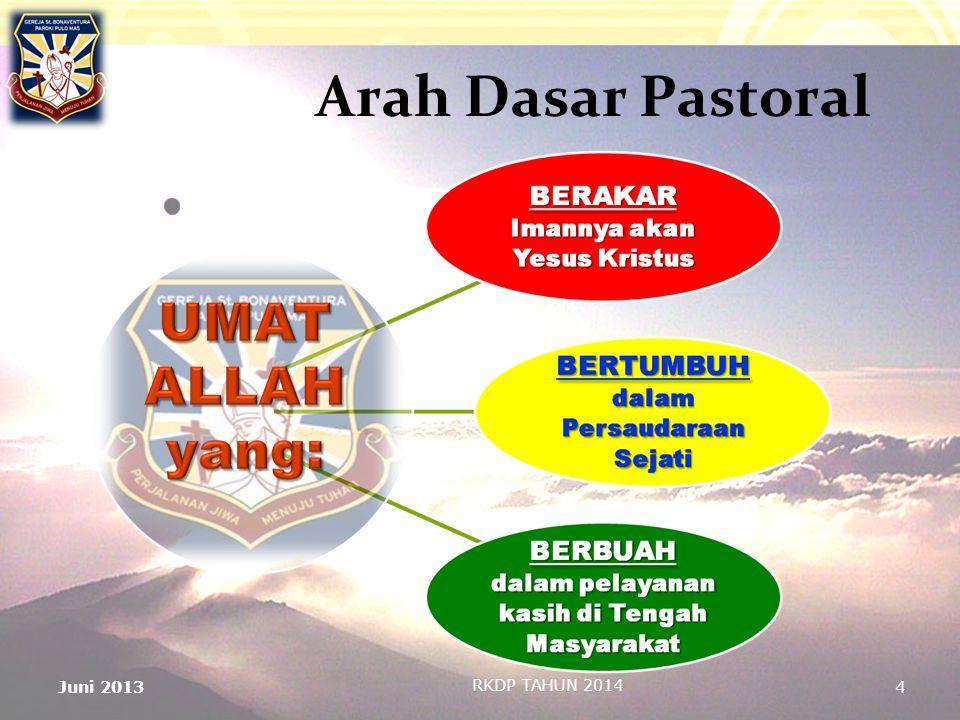 4 Arah Dasar Pastoral RKDP TAHUN 2014 Juni 2013