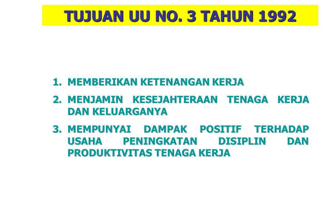 KOMPENSASI KECELAKAAN Dasar Hukum : 1.UU No. 3 Tahun 1992 ttg Jamsostek 2.PP No. 14 Tahun 1993 ttg Penyel. Program Jamsostek 3.Permen No. 01/Men/1981