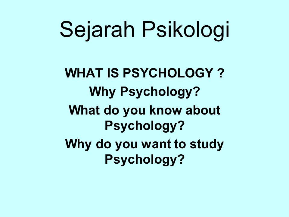 Arti Kata Bahasa Latin: psyche = soul, mind (jiwa) logos = ilmu The study of soul/mind Does the soul exist.