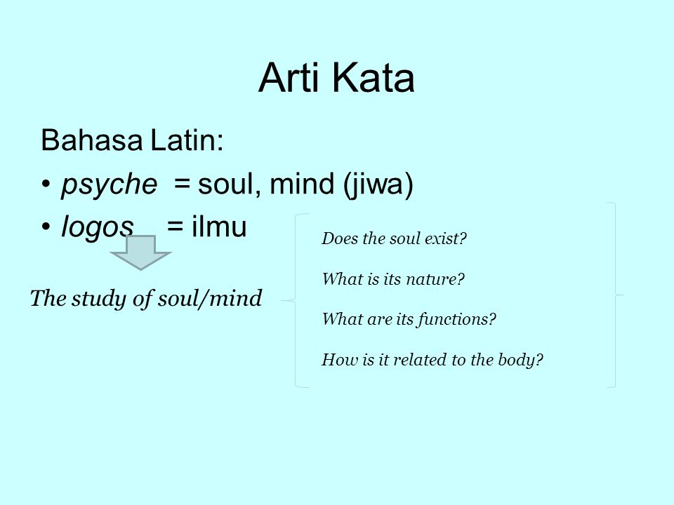 Ilmu tentang manusia PSIKOLOGI harus dipahami sebagai usaha manusia untuk memahami MANUSIA itu sendiri.