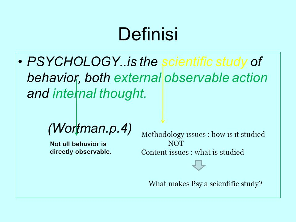 Psychology : science vs humanities Psikologi is a science because…..