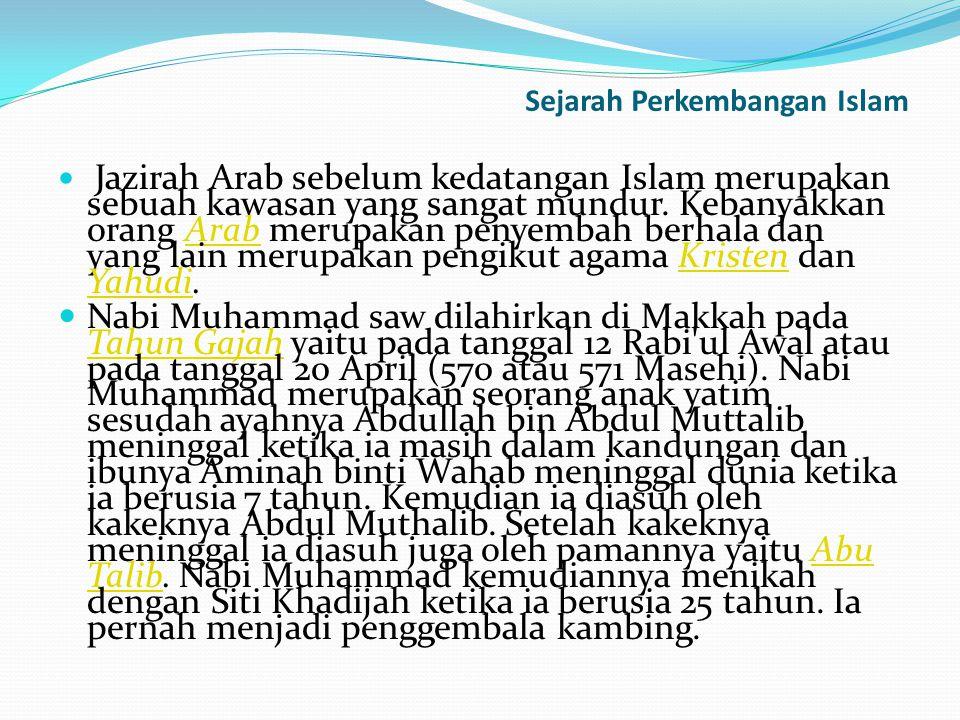 Nabi Muhammad banyak menghabiskan waktunya dengan menyendiri di gua Hira Nabi tidak menyukai suasana kota Mekah yang dipenuhi dengan masyarakat yang memiliki masalah sosial yang tinggi.