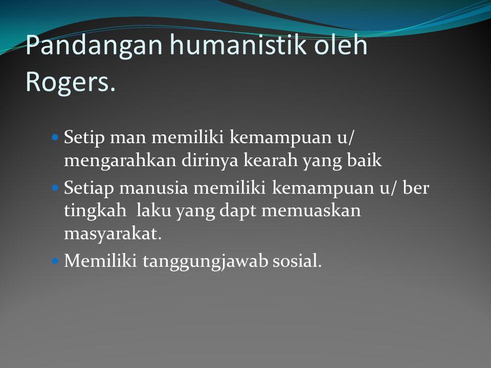 Pandangan humanistik oleh Rogers.