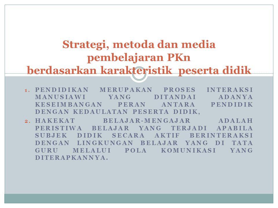 Strategi B-M dilihat dari segi pengorganisasian siswa.
