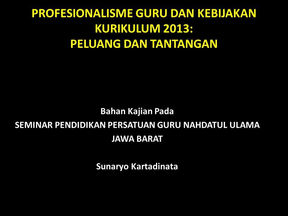 TANTANGAN MANUSIA INDONESIA MASA DEPAN (G2045) DAN PENDIDIKANNYA PENDIDIK/GURU MASA DEPAN DAN PENDIDIKANNYA PEMBINAAN PROFESIONAL GURU TILIKAN ALUR PIKIR