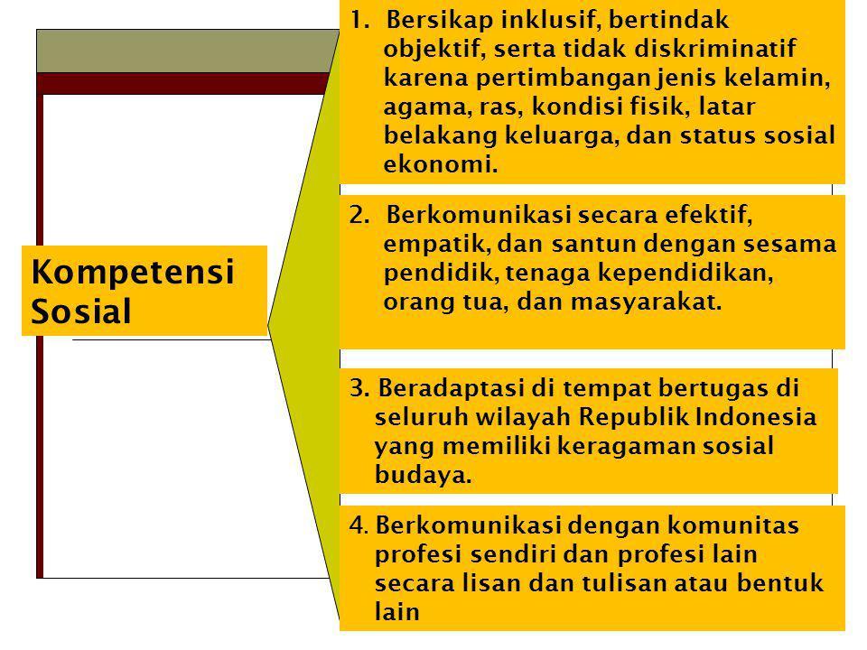 Kompetensi Sosial 1.