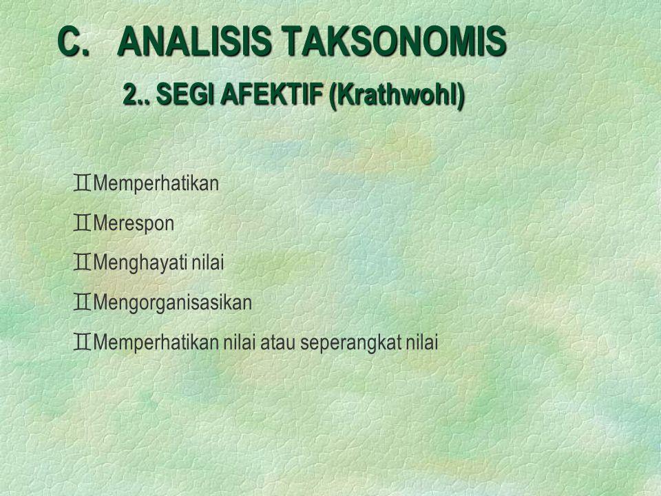 C.ANALISIS TAKSONOMIS 2..