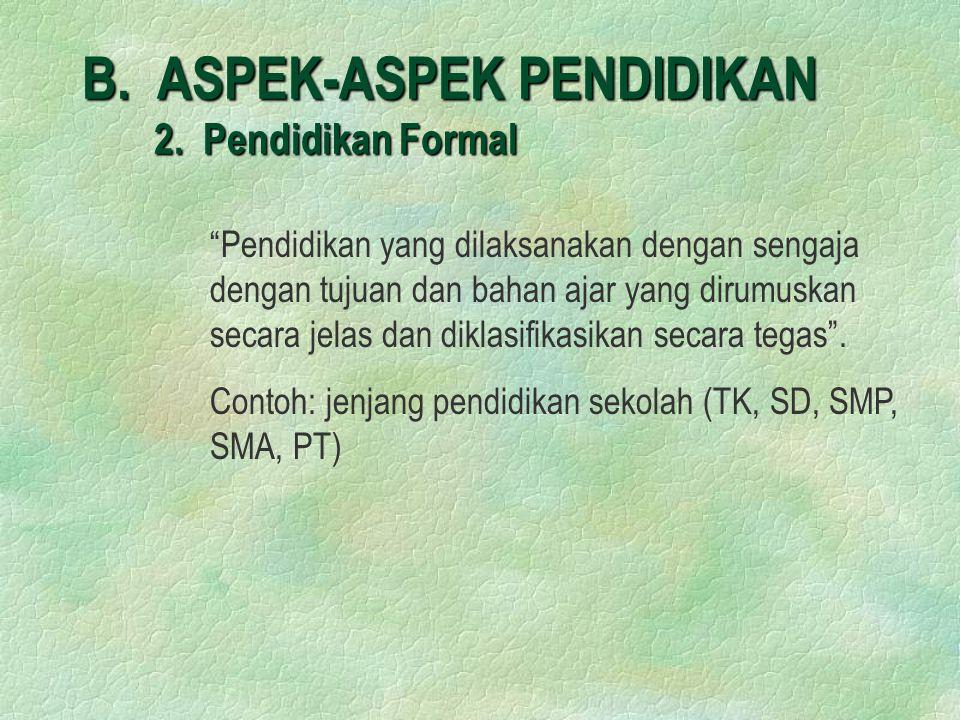 B.ASPEK-ASPEK PENDIDIKAN 2.