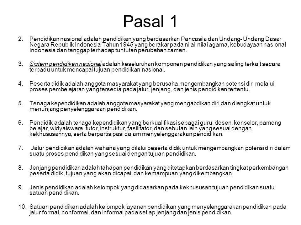 Part 3: National Educational Standard Pasal 1 Dalam Peraturan Pemerintah ini yang dimaksud dengan: 1.Standar nasional pendidikan adalah kriteria minimal tentang sistem pendidikan di seluruh wilayah hukum Negara Kesatuan Republik Indonesia.