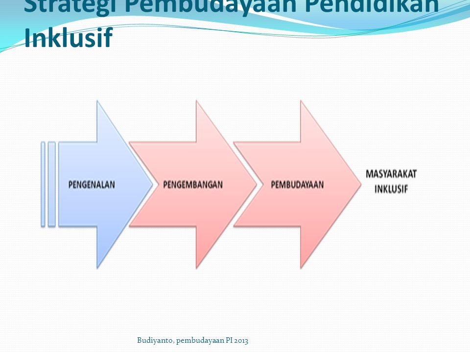 Strategi Pembudayaan Pendidikan Inklusif Budiyanto, pembudayaan PI 2013