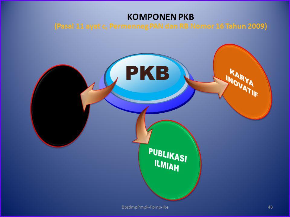 KOMPONEN PKB (Pasal 11 ayat c, Permenneg PAN dan RB Nomor 16 Tahun 2009) PKB BpsdmpPmpk-Ppmp-Ibe48