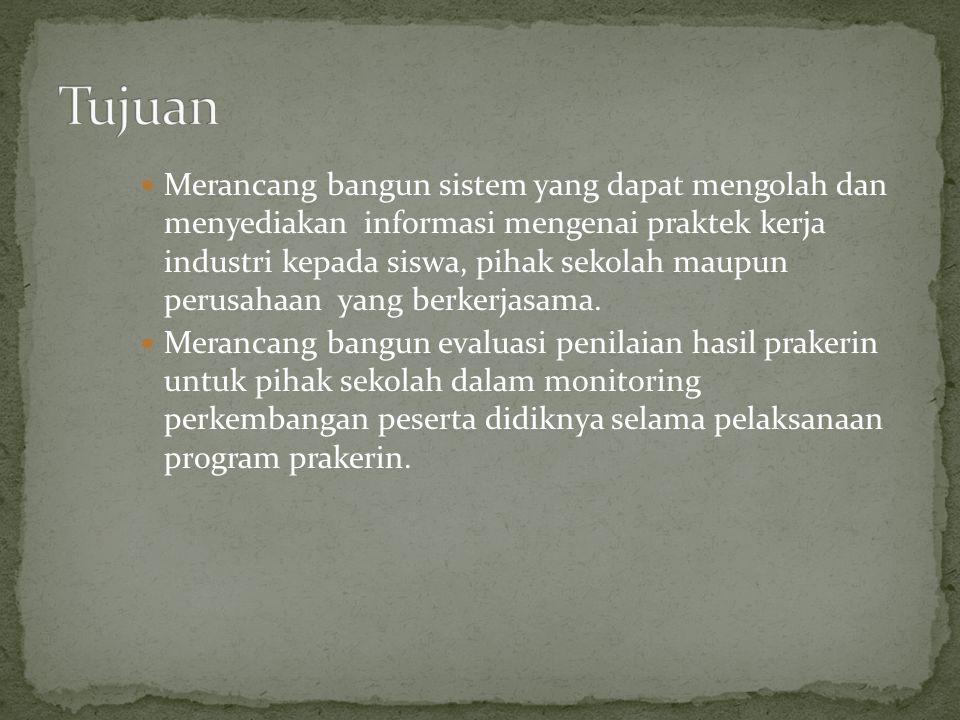 Pengertian Praktek Kerja Industri (Muhidin, 2010) Prakerin adalah bagian dari pendidikan sistem ganda (PSG) sebagai program bersama antara SMK dan industri yang dilaksanakan di dunia usaha, industri.