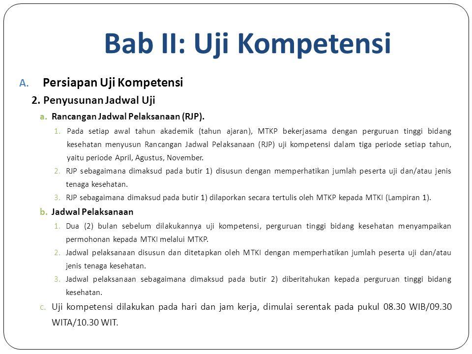 Bab II: Uji Kompetensi A.Persiapan Uji Kompetensi 2.