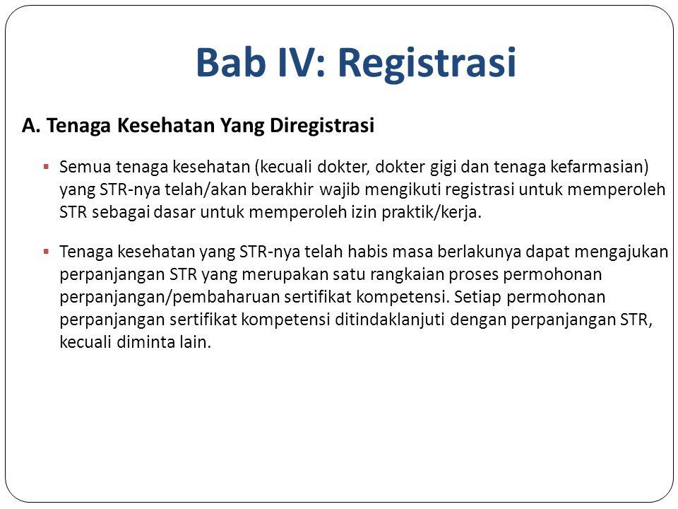 Bab IV: Registrasi A.