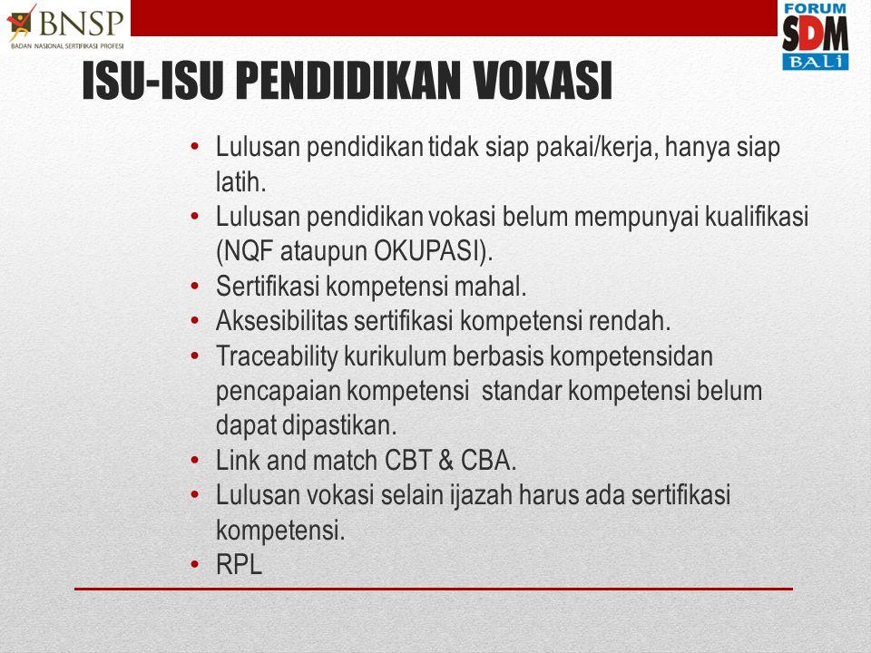 Pengembangan LSP Pihak 1 pada Pendidikan Vokasi Disampaikan oleh: Ir. Surono MPhil Ketua Komisi Harmonisasi dan Kelembagaan BNSP surono@bnsp.go.id Ind