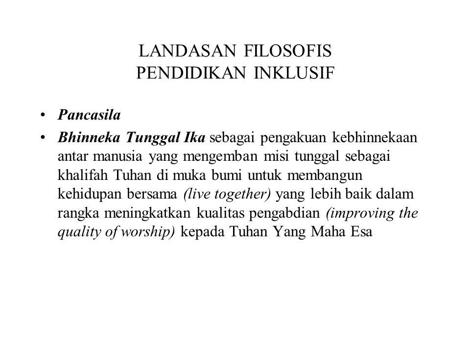 MENUJU PENDIDIKAN INKLUSIF (1) Mulai dari PAUD Mulai dari kondisi nyata di sekolah.