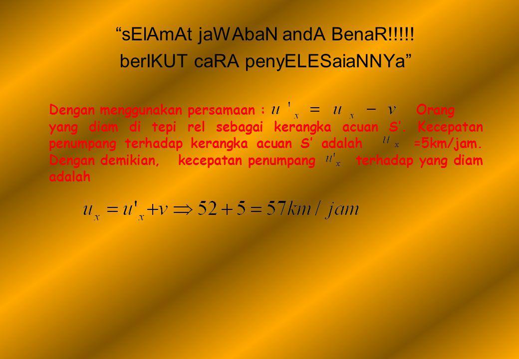 sElAmAt jaWAbaN andA BenaR!!!!.