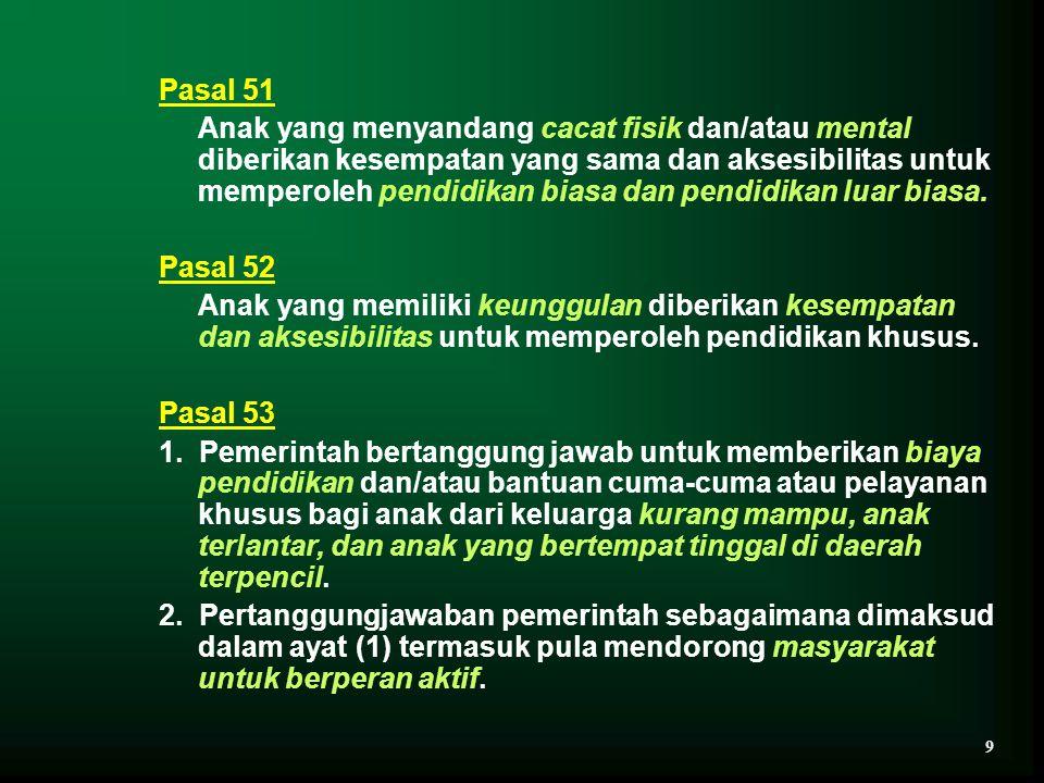 TABEL 1 DATA TAMAN KANAK-KANAK LUAR BIASA INDONESIA NOKOMPONENSATUAN DATA 2000200120022003 1.a.