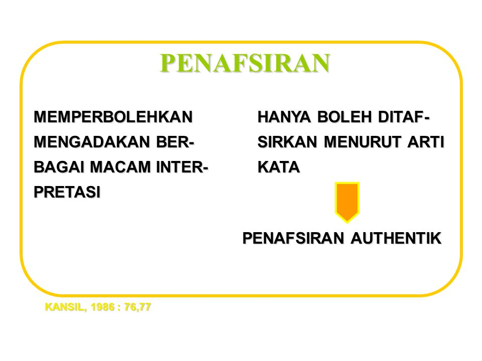 DISELURUH INDONESIA) KECUALI KETENTARAAN.
