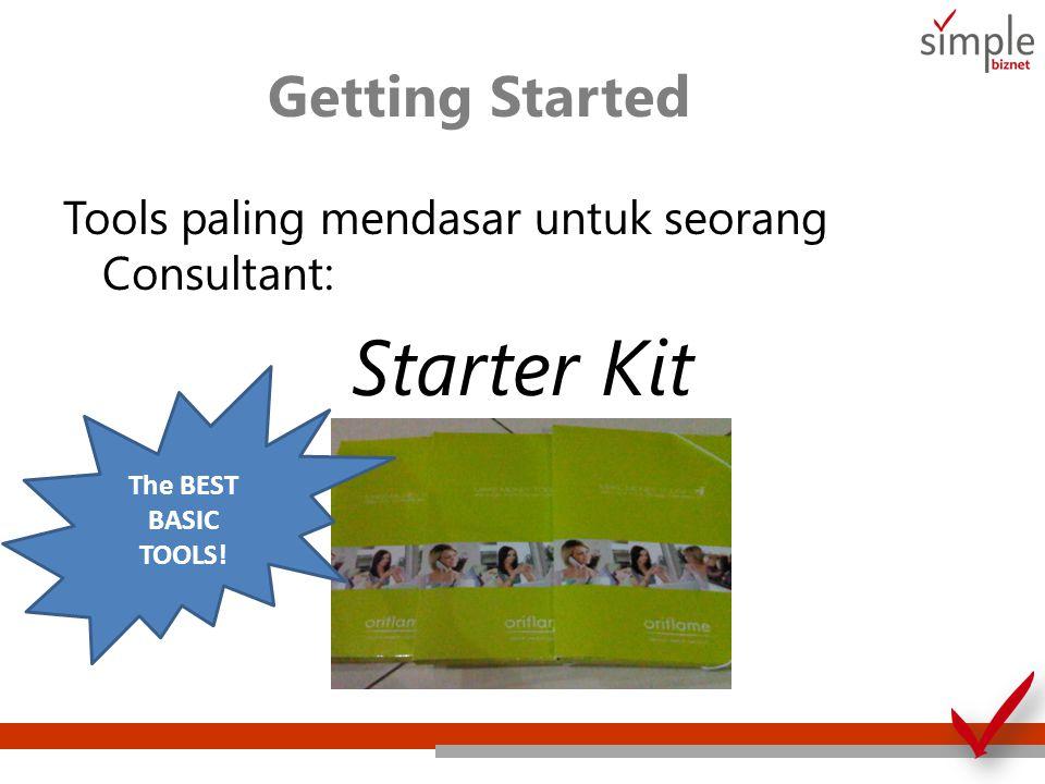 Getting Started Tools paling mendasar untuk seorang Consultant: Starter Kit The BEST BASIC TOOLS!