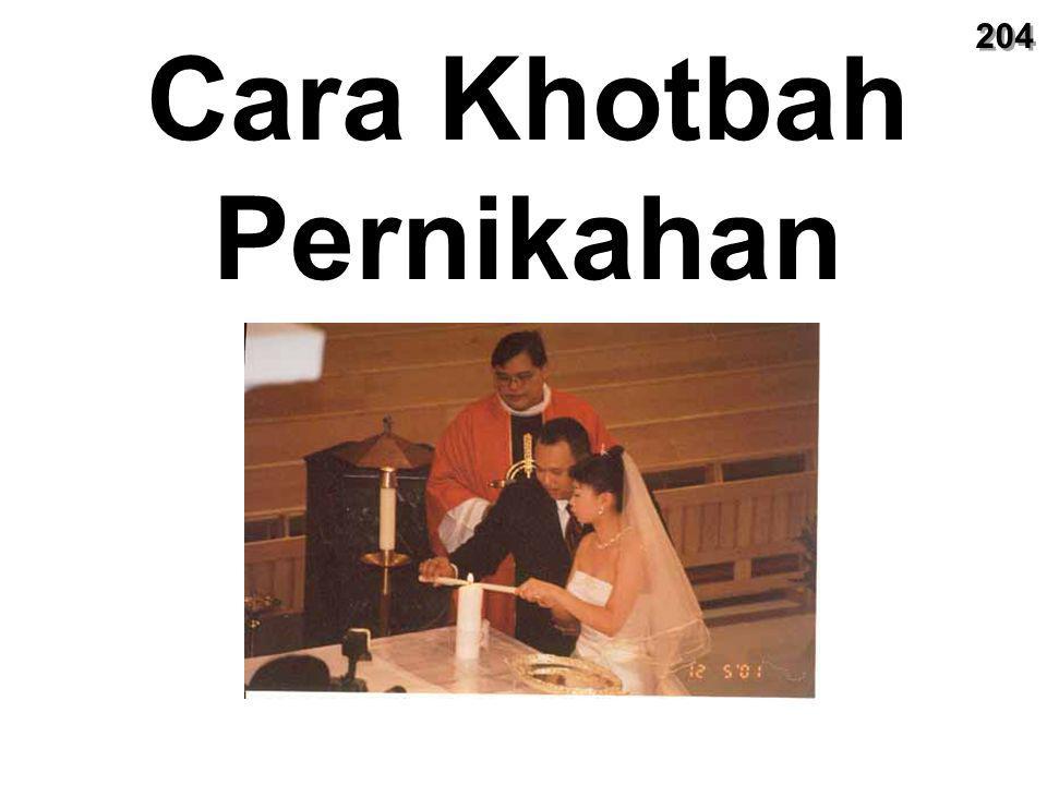 Cara Khotbah Pernikahan 204