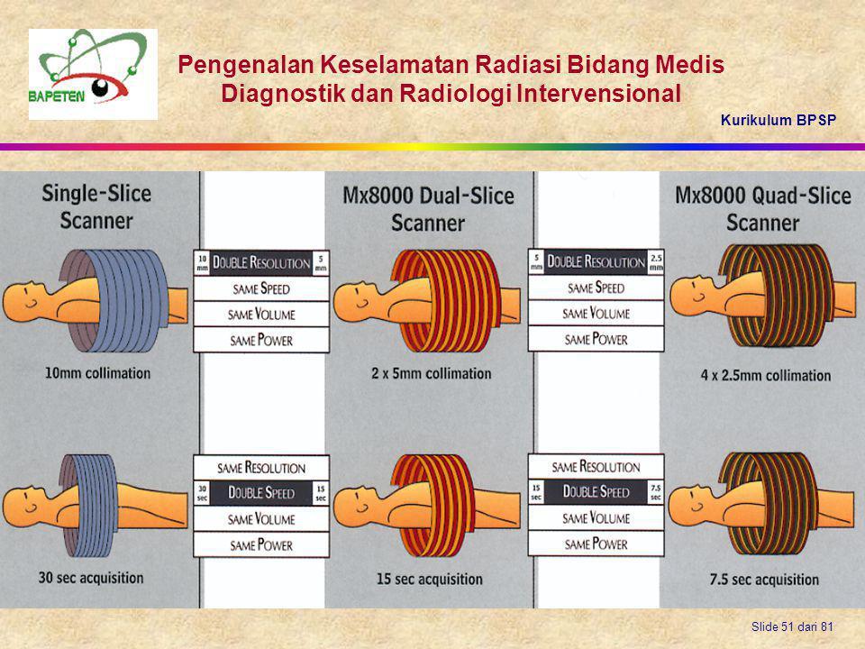 Kurikulum BPSP Pengenalan Keselamatan Radiasi Bidang Medis Diagnostik dan Radiologi Intervensional Slide 51 dari 81