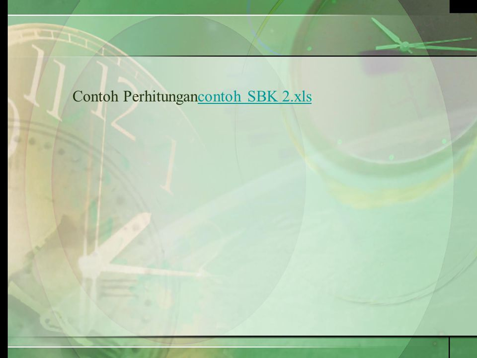 Contoh Perhitungancontoh SBK 2.xlscontoh SBK 2.xls