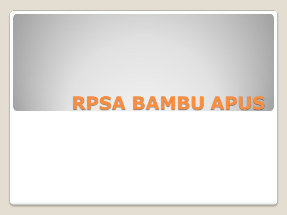 RPSA BAMBU APUS