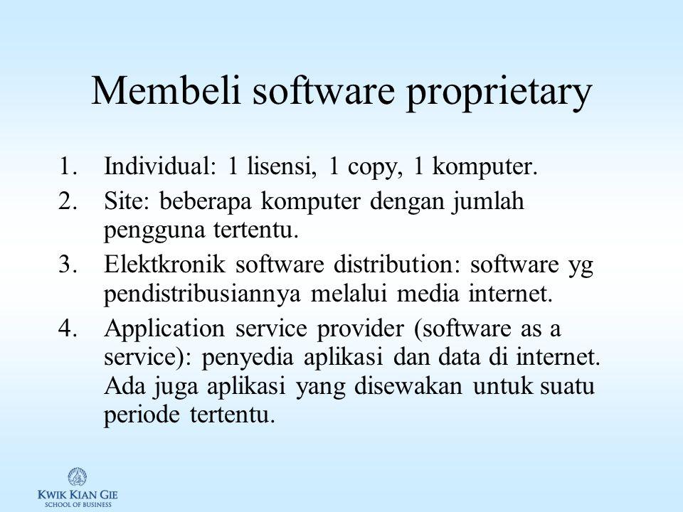 Cara mendapatkan Software Selain membeli atau membuat sendiri, cara mendapatkan software: 1.Freeware.