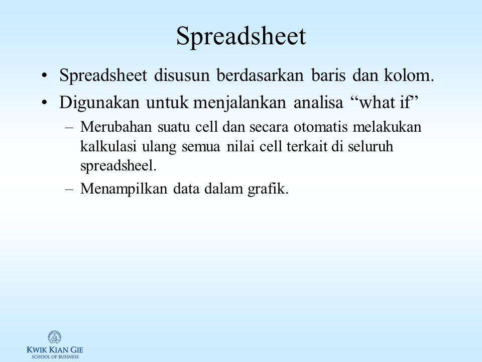 Word Processing / Desktop Publishing Word processing: suatu software yang dapat digunakan untuk create, edit, format, dan print sebuah dokumen.