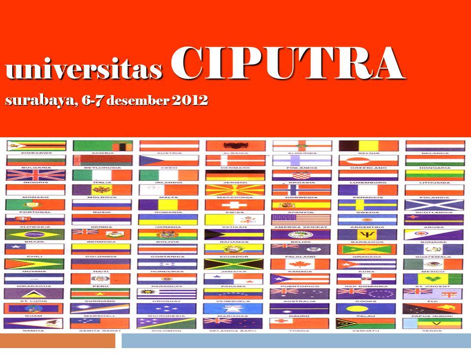 1 universitas CIPUTRA surabaya, 6-7 desember 2012