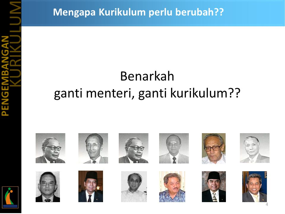 SEJARAH KURIKULUM PENDIDIKAN DI INDONESIA 1.Rentjana Pelajaran 1947 2.Rentjana Pelajaran Terurai 1952 3.Rentjana Pendidikan 1964 4.Kurikulum 1968 5.Kurikulum 1975 6.