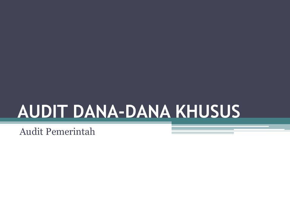 AUDIT DANA-DANA KHUSUS Audit Pemerintah