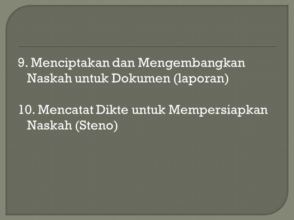 1.Disiplin 2. Jujur 3. Layak Dipercaya 4. Setia 5.