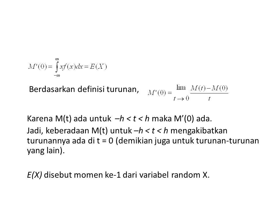 - - disebut momen ke-2 dari X.
