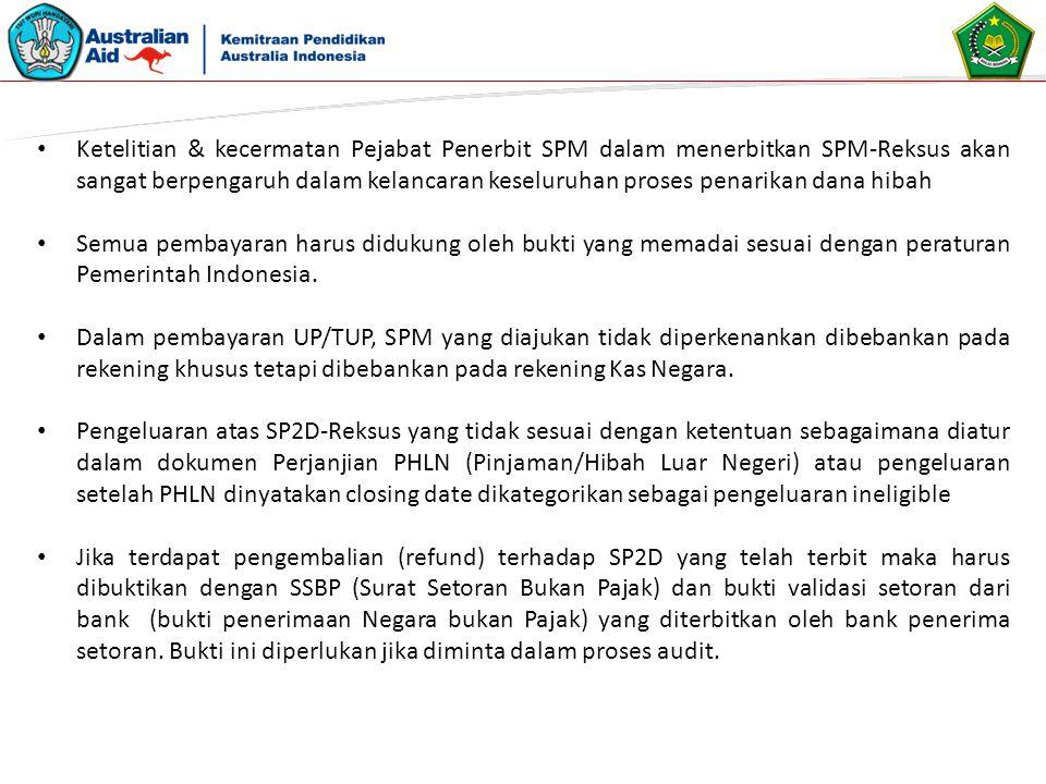 Ketelitian & kecermatan Pejabat Penerbit SPM dalam menerbitkan SPM-Reksus akan sangat berpengaruh dalam kelancaran keseluruhan proses penarikan dana h