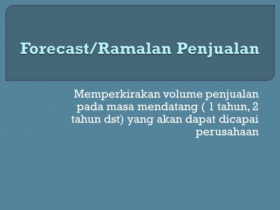 1.Forecast berdasarkan pendapat (judgment method) 2.