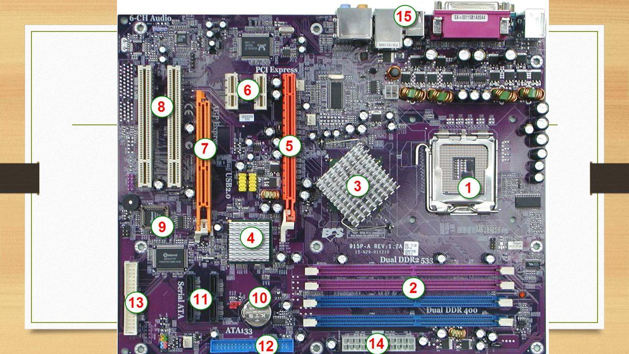 1.Soket Prosesor. Soket ini merupakan tempat dimana prosesor dipasang.