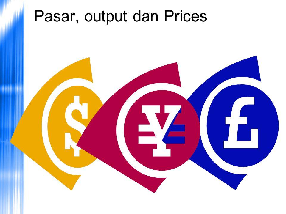 Pasar, output dan Prices