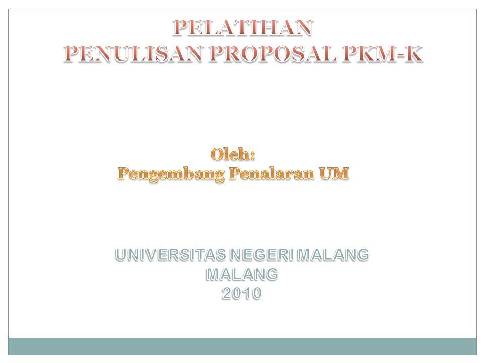 Kreativitas Mahasiswa PKMP PKMT PKMM PKMK PKM-GT PIMNASPKM-AI Jurnal Kreativitas Mahasiswa Jurnal ilmiah terakreditasi ( Rekomendasi DP2M )
