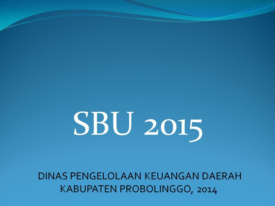 SBU 2015 DINAS PENGELOLAAN KEUANGAN DAERAH KABUPATEN PROBOLINGGO, 2014