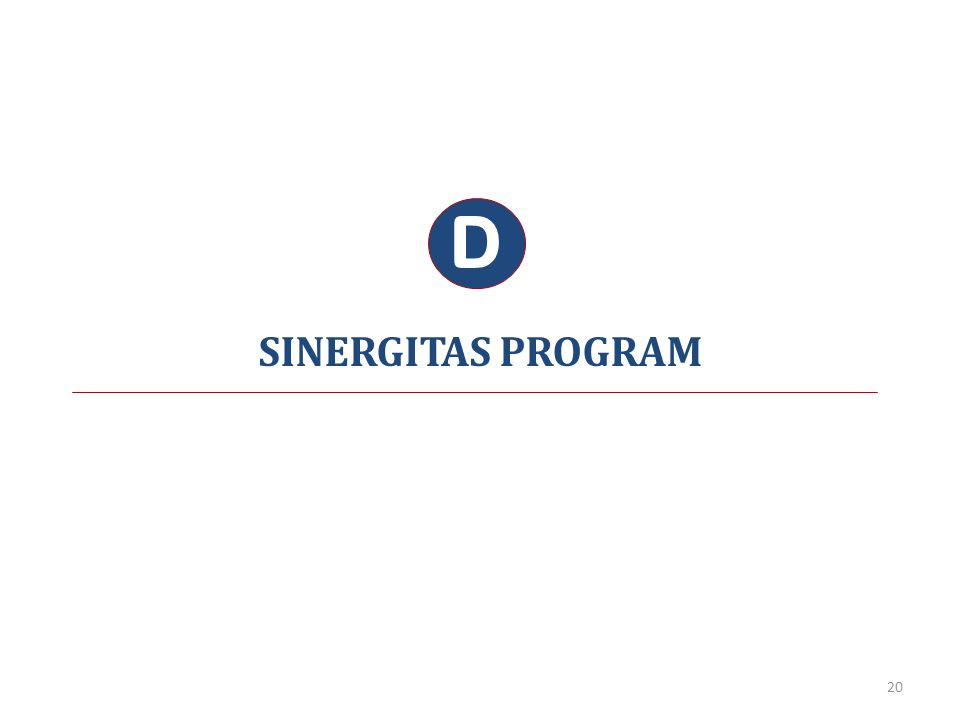 SINERGITAS PROGRAM D 20