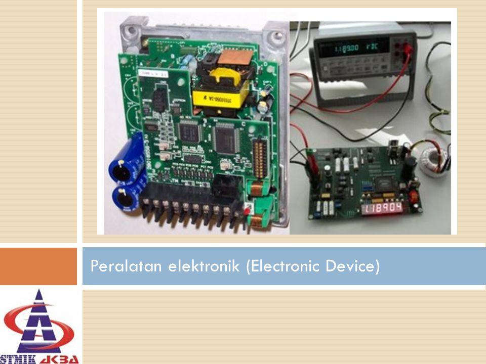Pengertian -Elektronika merupakan ilmu yang mempelajari alat listrik arus lemah yang dioperasikan dengan cara mengontrol aliran elektron atau partikel bermuatan listrik dalam suatu alat seperti komputer, peralatan elektronik, termokopel, semikonduktor, dan lain sebagainya.